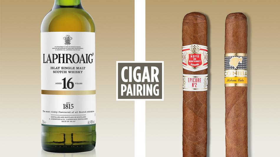 Pairing Laphroaig 16 With Cuban Cigars