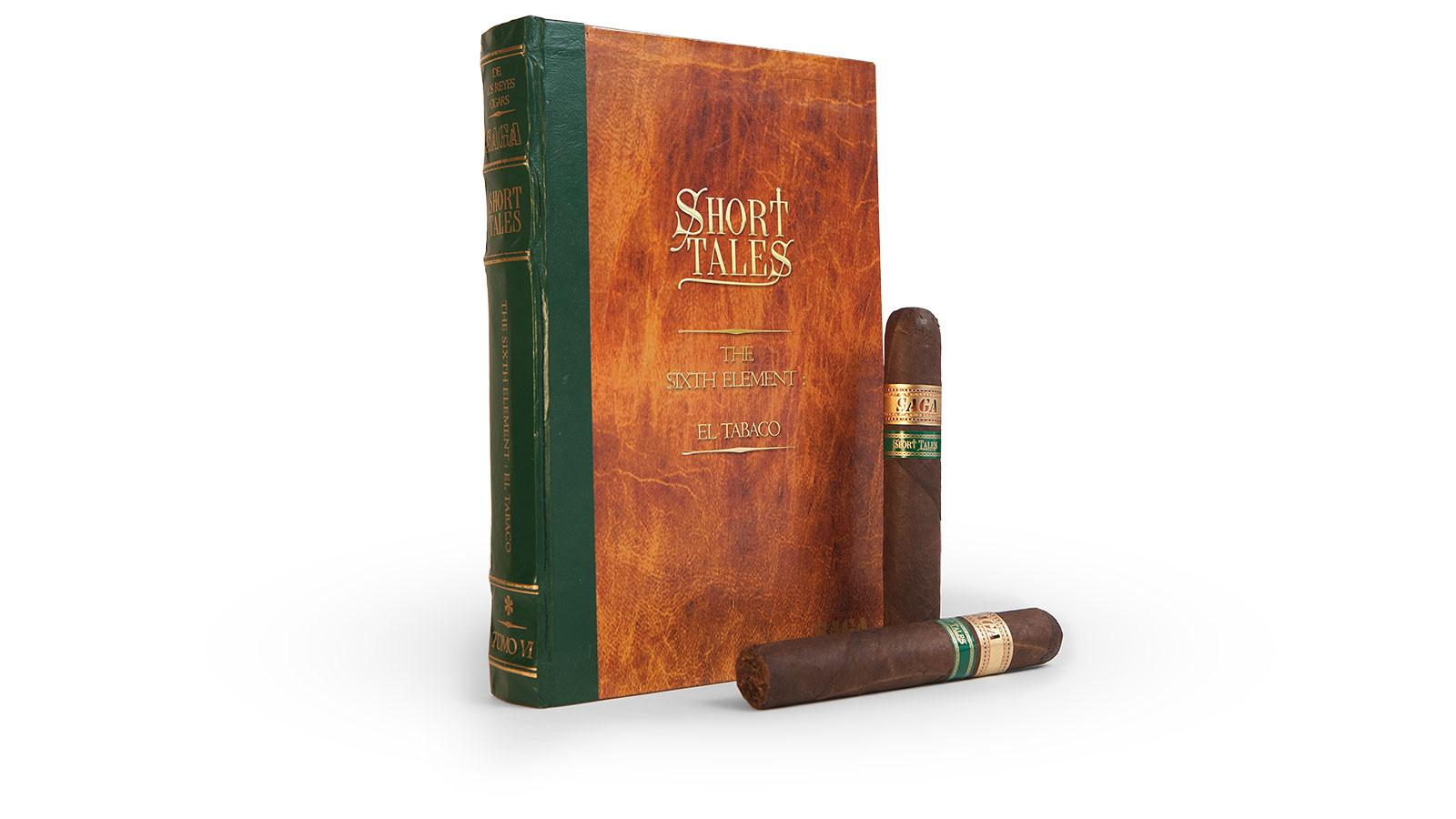 Cigars in the Saga Short Tales series come packaged in an interesting 10-count box made to look like an old volume of a vintage leather-bound book.