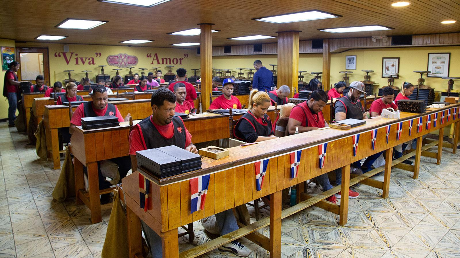 The Fuente Fuente OpusX rolling gallery, dedicated to only making one brand, which is one of the hardest to find cigars in the world.