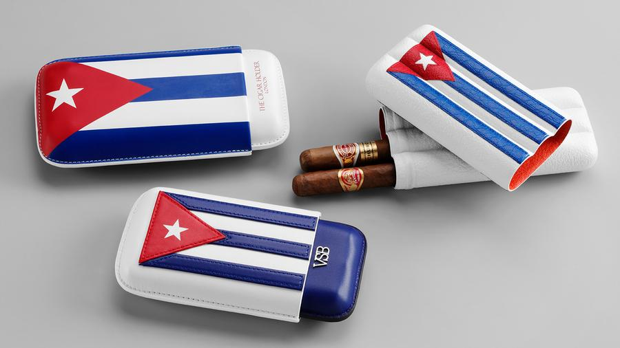 Cuban Flag Cigar Cases