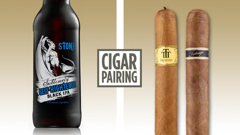 Pairing Stone Sublimely Self-Righteous Black IPA with Cigars