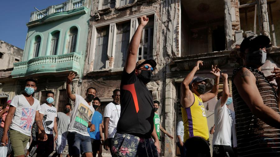 Thousands Take To Streets In Cuba