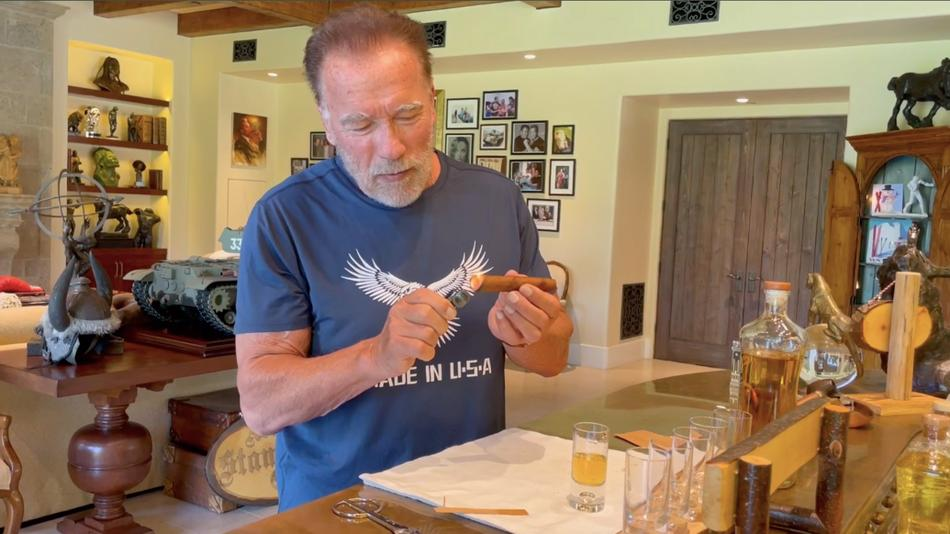 New Video: Arnold Schwarzenegger Combines Tequila With A Cigar