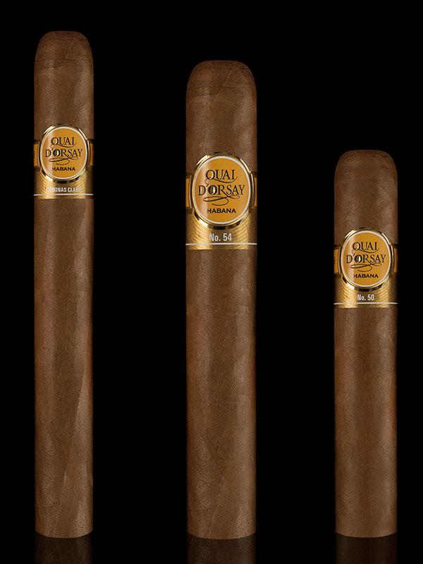 The new Quai d'Orsay lineup, from left: Corona Claro, No. 54 and No. 50.
