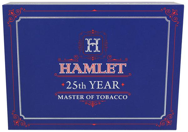 Hamlet 25th year will be packaged in distinctly blue, 20-count boxes.