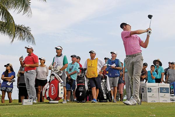 Thomas teeing off at the Sony Open in Honolulu, Hawaii, in January. He won by seven strokes, shot a 59 in the opening round and set a record for lowest 72-hole score in PGA history. The week before, he won the SBS Tournament of Champions by three strokes, giving him a blazing-hot start to 2017.