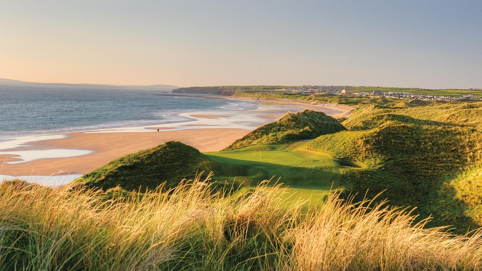 Ballybunion, created in 1883, combines the old and the new. Hole 16 is a picturesque beauty.