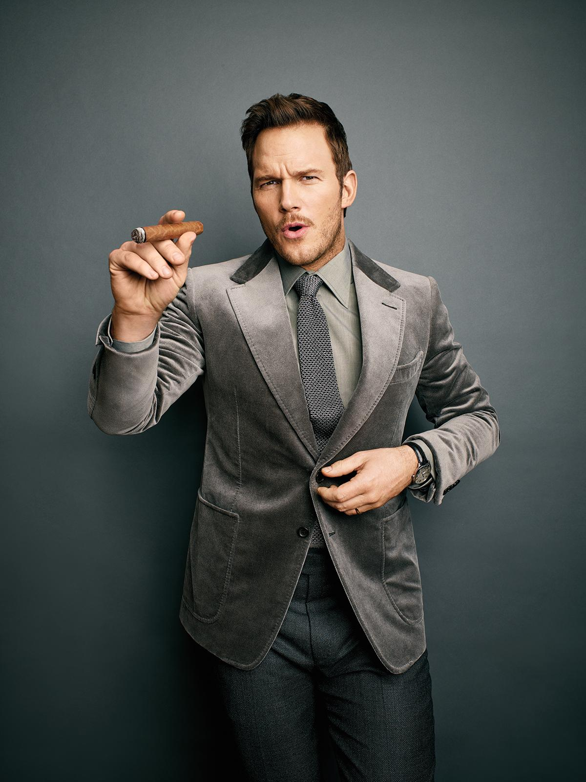 Chris Pratt for Cigar Aficionado