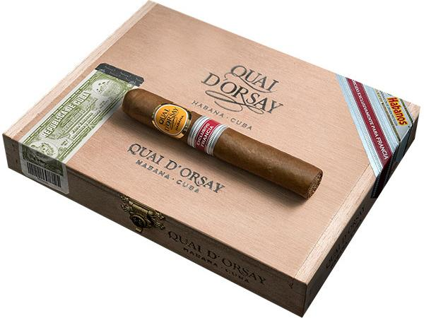 A box of Quai d'Orsay Secreto Cubano cigars without a warning label.