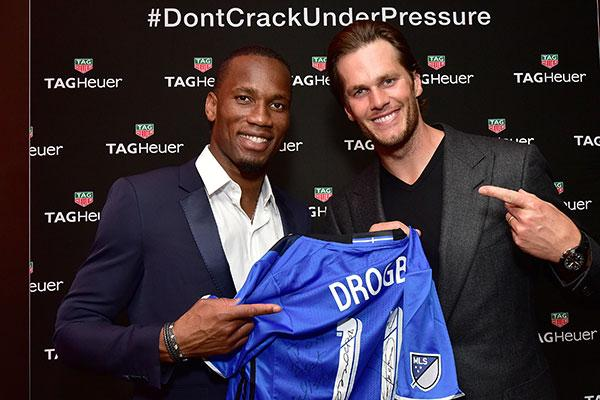 Didier Drogba and Tom Brady