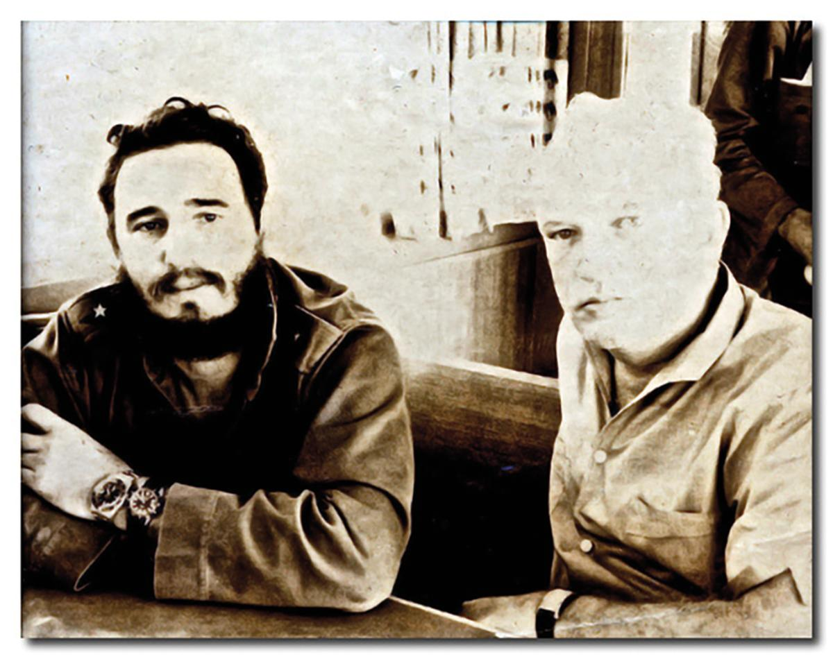 A Donovan family photo of the negotiator with Fidel Castro.