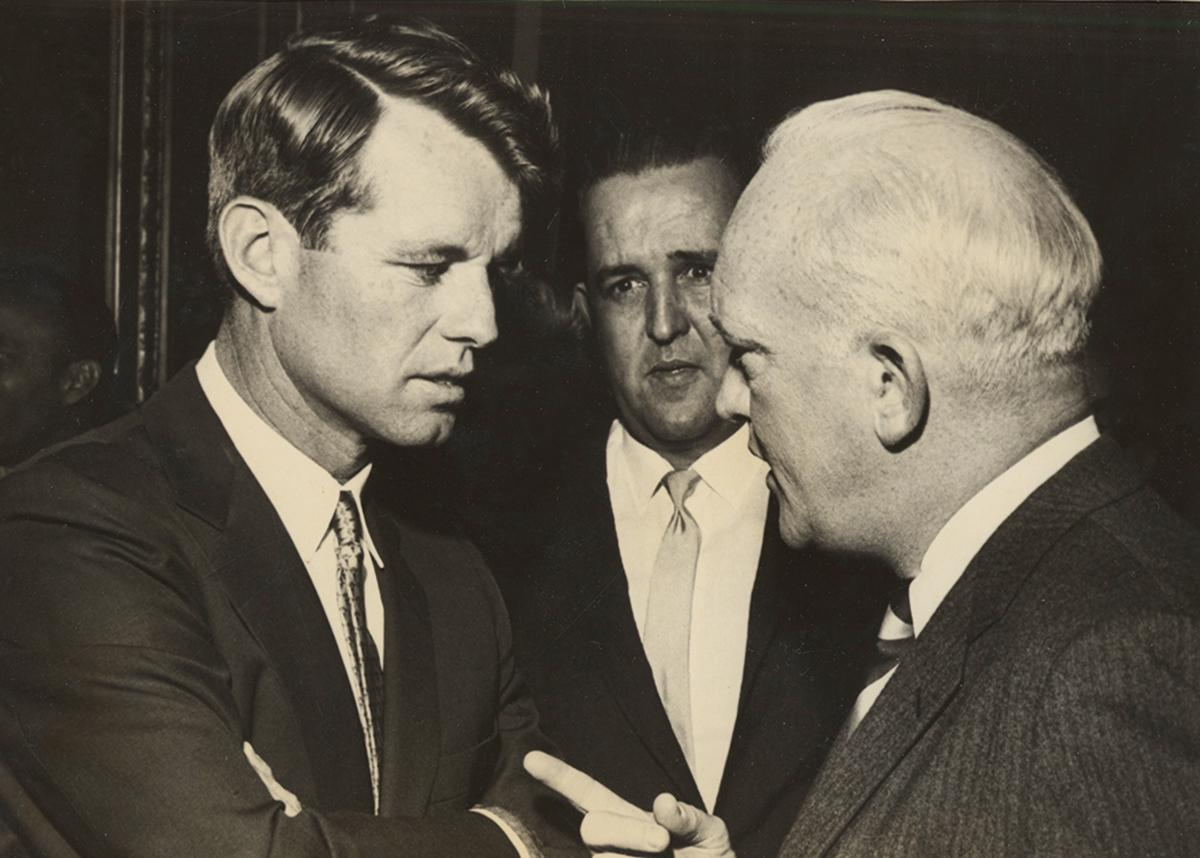 Donovan with U.S. Attorney General Robert F. Kennedy.