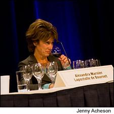 Alexandra Marnier Lapostolle presented the 2008 Wine of the Year.