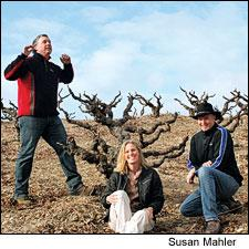 Four Vines original partners, left to right, Bill Grant, Susan Mahler and Christian Tietje