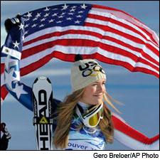 Olympic champion Lindsey Vonn hopefully let someone else open the Champagne last night.