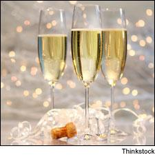 Let's pop the cork and raise a glass (and a bacon lollipop) to another year.