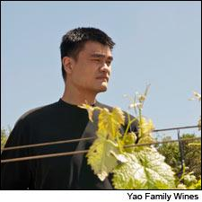 Retired NBA star Yao Ming visits one of the vineyards for his new Napa Cabernet.