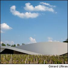 Château Cheval-Blanc's ultramodern cellar sits in stark contrast to the surrounding estates.