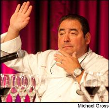 Chef Emeril Lagasse offers his thoughtful opinion of the pairings.