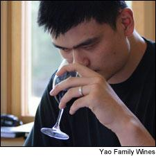 Yao Ming picked up a taste for Texas steak and Napa Cabernet during his time playing in the NBA.