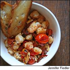 Garlic Shrimp with Cherry Tomatoes and Almonds