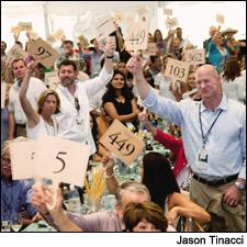 Bidders contributed more than $1.2 million to Auction Napa Valley's Fund a Need program.