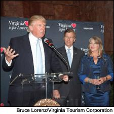 Donald Trump, Gov. Bob McDonnell and his wife Maureen. Trump is actually speaking favorably about something here.