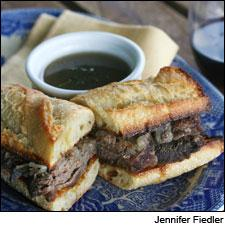 Sirloin sandwiches and a spiced beef broth round out the tannic grip of a Bordeaux Supérieur.