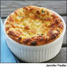 Corn and Goat Cheese Soufflé