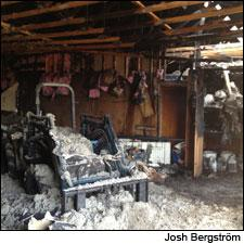 A dangerous combination of mineral oil and copper hydroxide powder likely caused the fire at Bergström.
