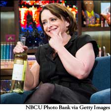 Comedic actress and author Rachel Dratch, seen here with a bottle of Ramona Pinot Grigio.
