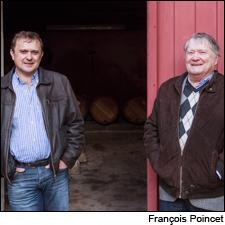 Winemaking consultant Jacques Boissenot (right) with his son Eric last year.