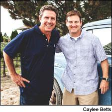 Dan Marino (left) and Damon Huard have started their own Walla Walla winery with winemaker Chris Peterson.