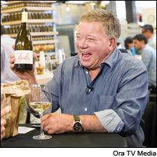 William Shatner is challenging his celebrity guests to create unorthodox tasting notes on