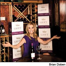 Talk show personality Kathie Lee Gifford in her natural element: surrounded by Chardonnay