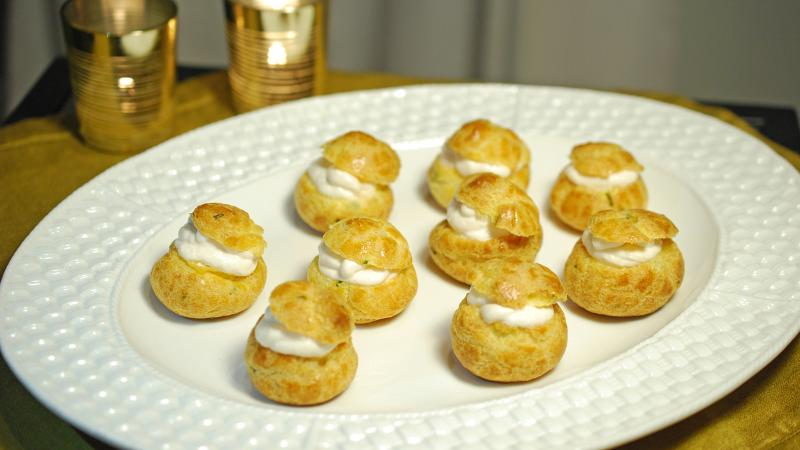 These elegant cheese puffs can be enhanced with a variety of fillings.