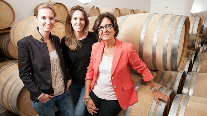 Karoline, Julia and Elena Walch in their Alto Adige cellar. Elena married into a winemaking family, but then launched her own company.