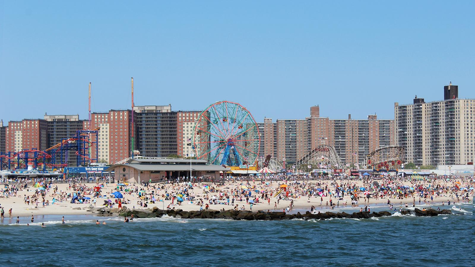 Mixed Case does not condone drinking wine before riding Coney Island's famous Cyclone rollercoaster.
