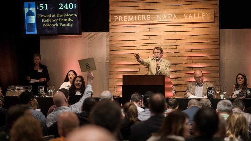 The bidding was heated at the Premiere Napa Valley auction.