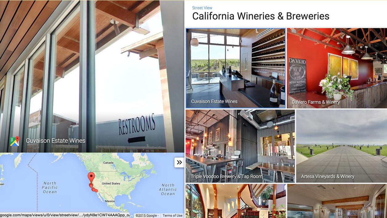 Google Street View Goes Inside California Wine Country