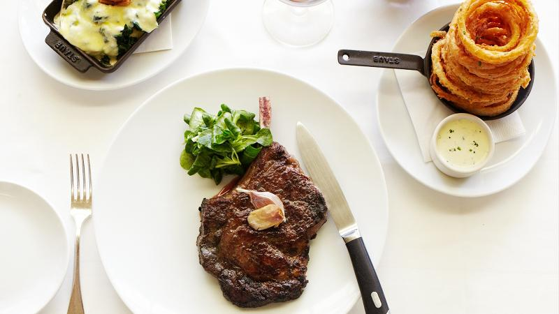 For a first-rate dining experience in California wine country, head to Press, a steak house whose collection of Napa Valley Cabernets is unequaled in the area.