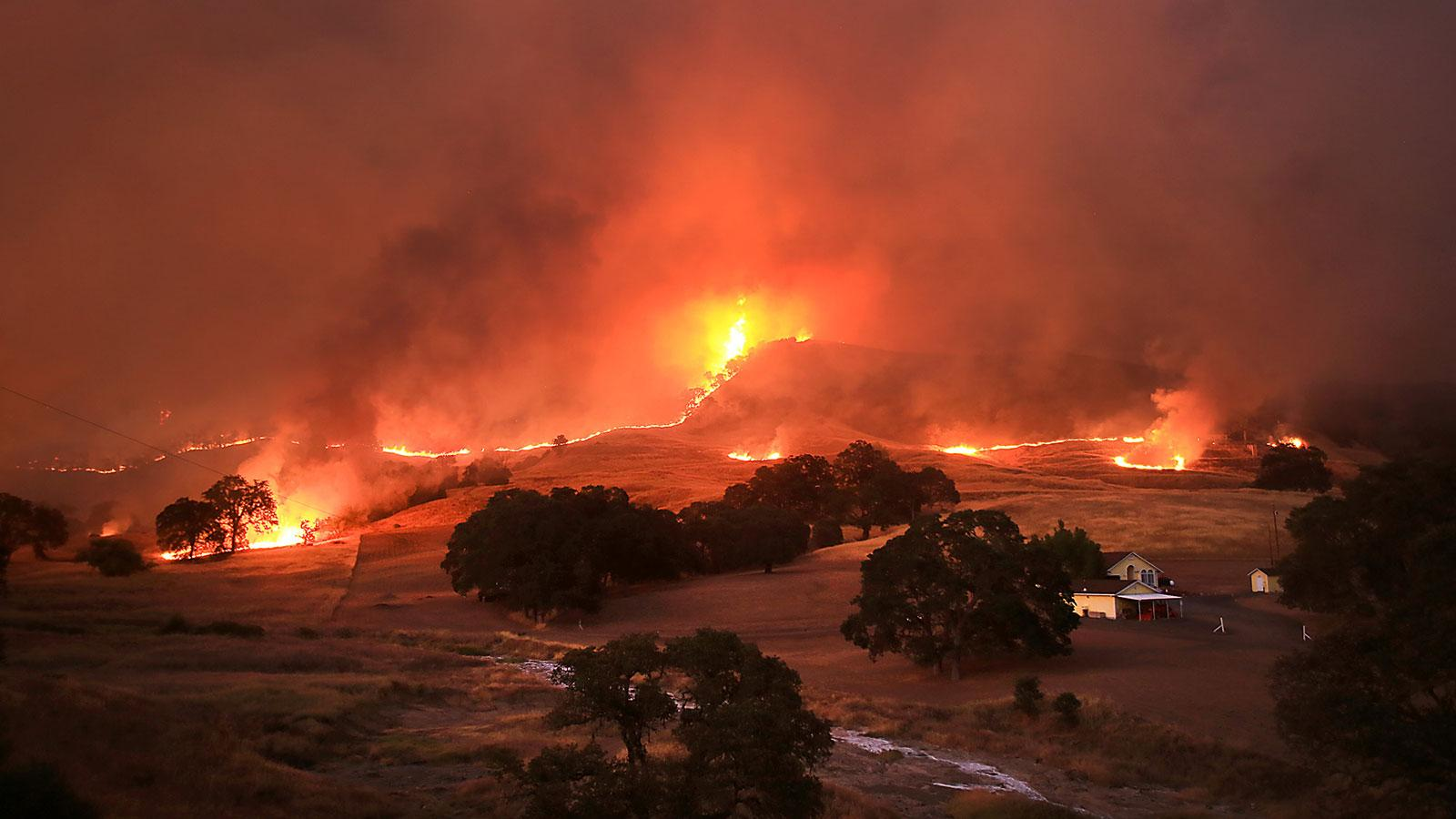 The Rocky Fire in Lake County has proved difficult to contain.