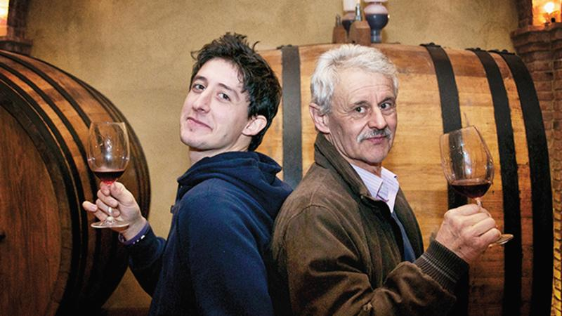 Son Mauro and and father Giovanni Manzone keep the Barolo-making in the family.