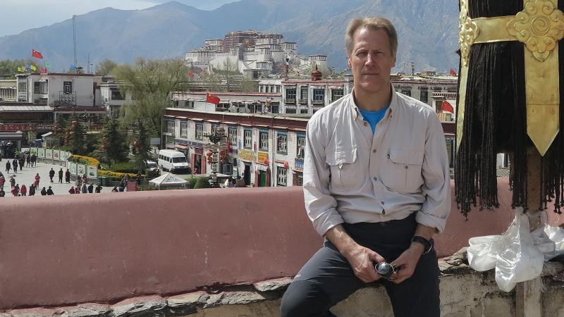 Fladgate Partnership CEO Adrian Bridge at Lhasa Main Square in Nepal before the April 25 earthquake.