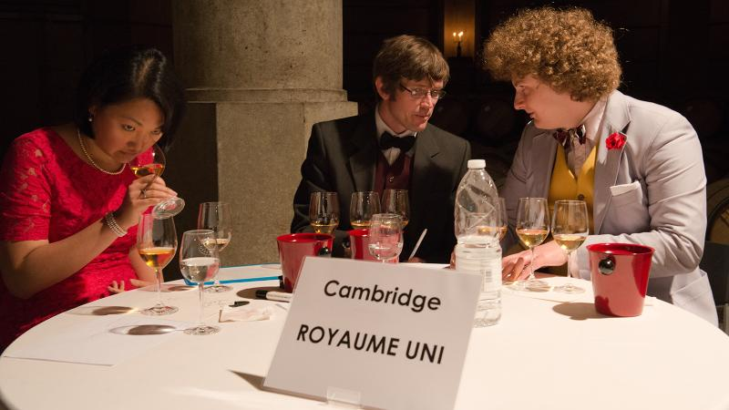 This year's Bordeaux Cup contestants thought long and hard before handing in their score cards.