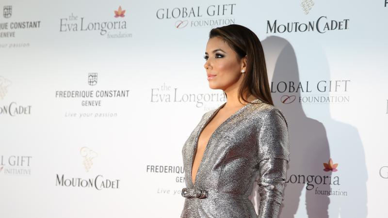 Eva Longoria hosted the Global Gift Gala fund-raiser at Cannes with Mouton Cadet.