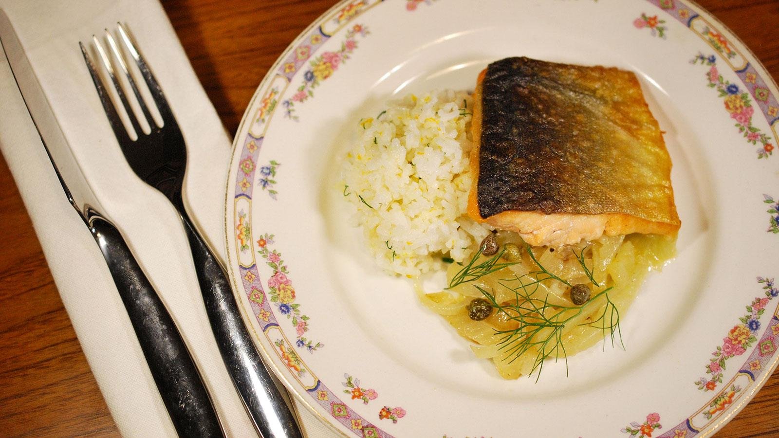 Arctic Char With Orange-Scented Fennel and Onions