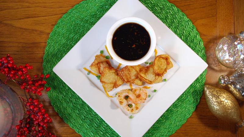Don't worry about shaping or garnishing the wontons perfectly; they'll still look tasty and be devoured quickly.