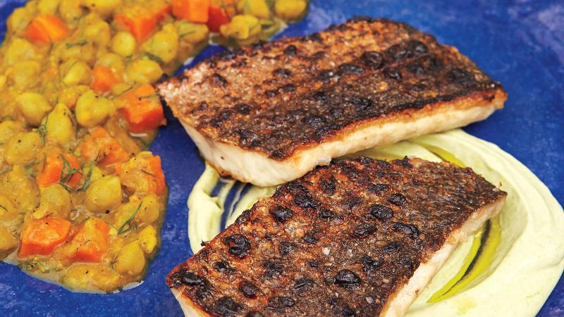 Grilled Branzino With Chickpea Stew for Passover