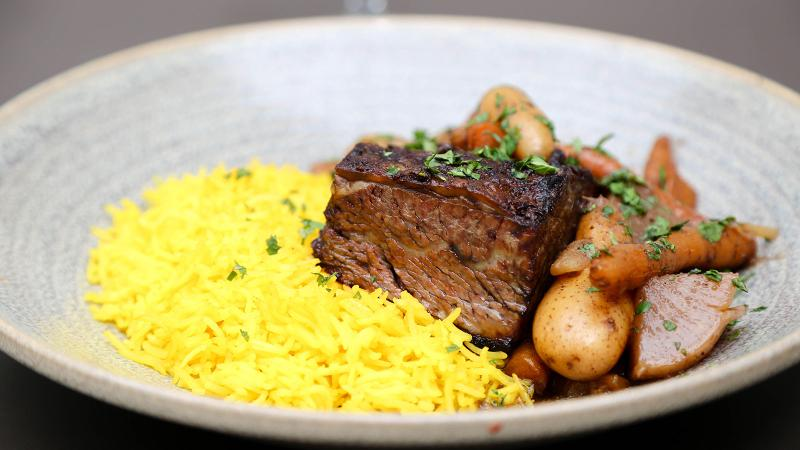 Spice-rubbed short ribs make a mouthwatering pairing with a concentrated, hearty red wine.